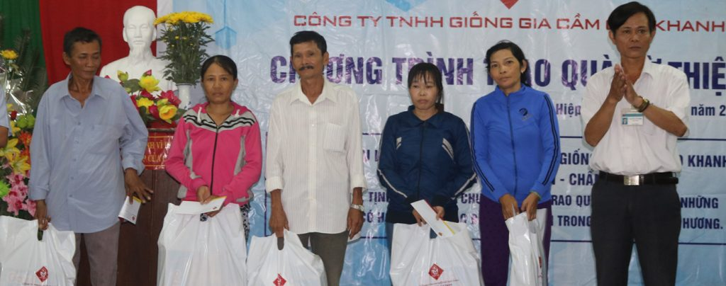Chương trình từ thiện Tặng quà cho các hộ khó khăn tại huyện Tuy Phước - Bình Định